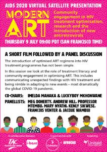 AIDS 2020 virtual satellite flyer Treament Literacy